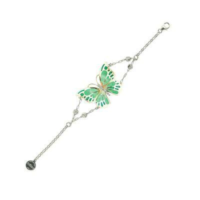 bracciale farfalla verde