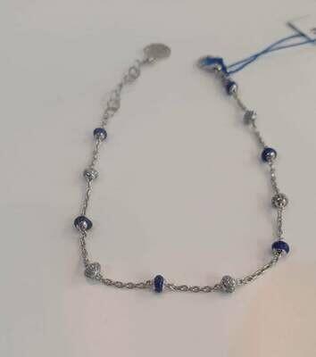 bracciale arg 925 blu