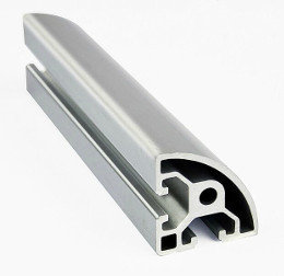 4040 T Slot Half Round Aluminium Extrusion Profile
