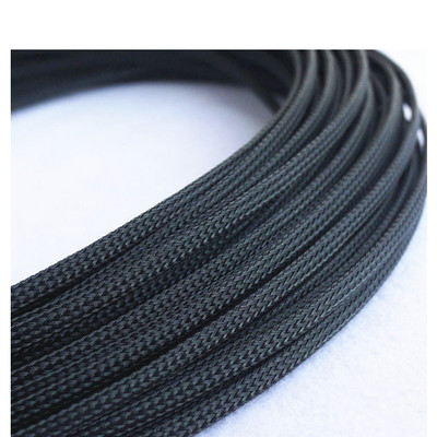 Flexible Nylon Braided Sleeving (10mm, Black)