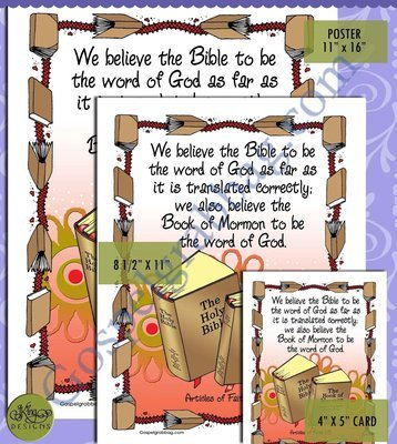 Scripture Poster: Articles of Faith 08