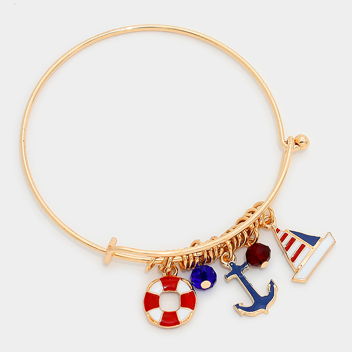 Nautical Charm adjustable bangle WT-311929