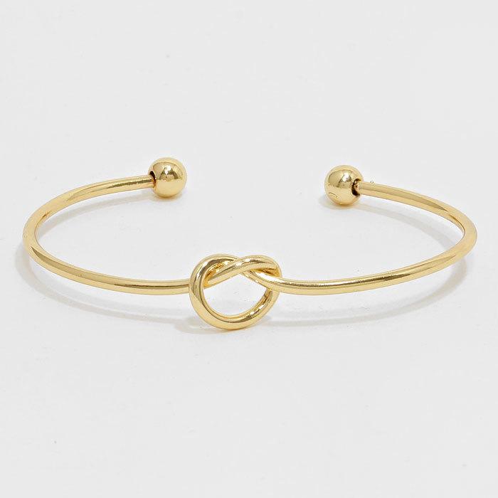 Single Knot Cuff - Gold WT-276903