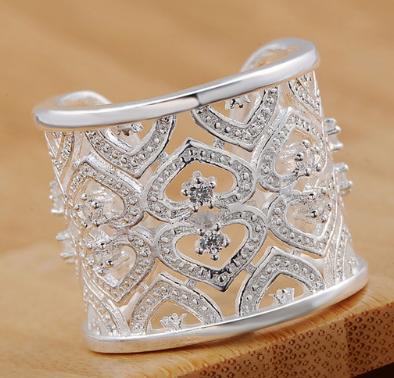 Regal Silver Crystal Wrap Ring KL-R106