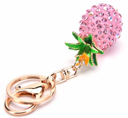 Crystal Pineapple Key chain - Pink TSS-KC007