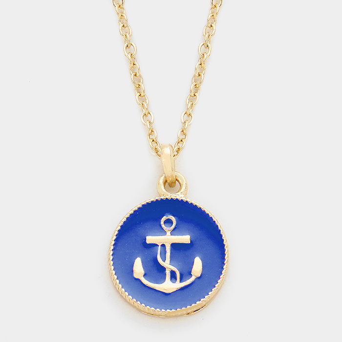 Anchors Away Blue Necklace WT-19140