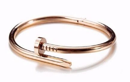 Cartier Inspired Twisted Nail Bangle - Rose Gold FS-20005