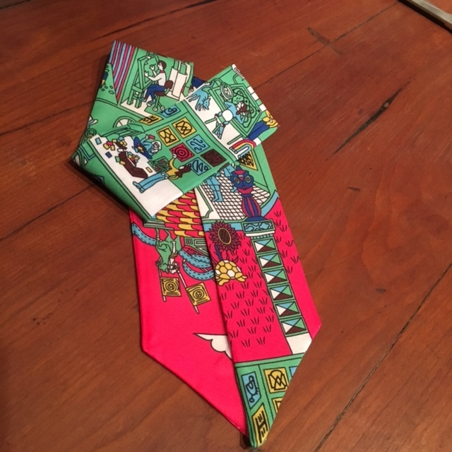 Hermes Inspired Twilly Scarf MR2 SA-MR2