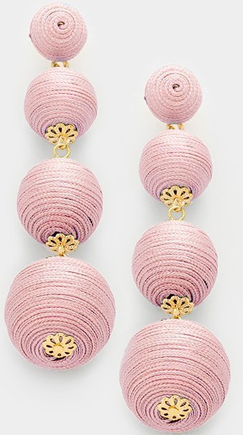 Manchester Thread Ball Earrings - Blush Pink WT-339741