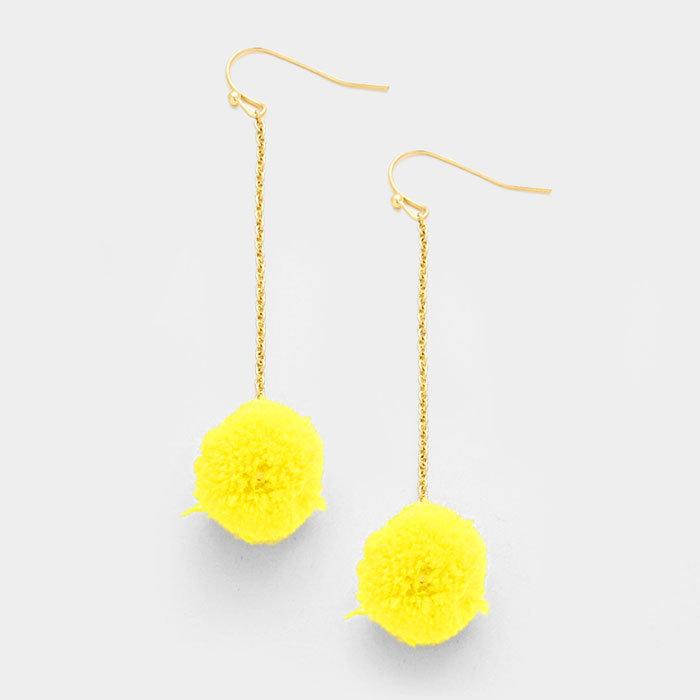 Nantasket Pom Poms  - Yellow WT-343010