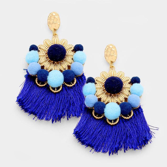 St. Bart's - Blue Earrings WT-344824