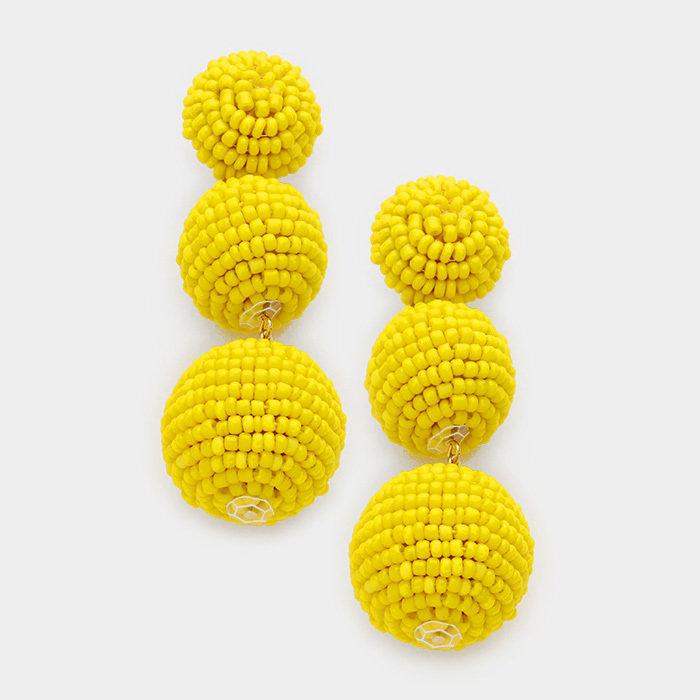 Hanover - Yellow Earrings WT-342268