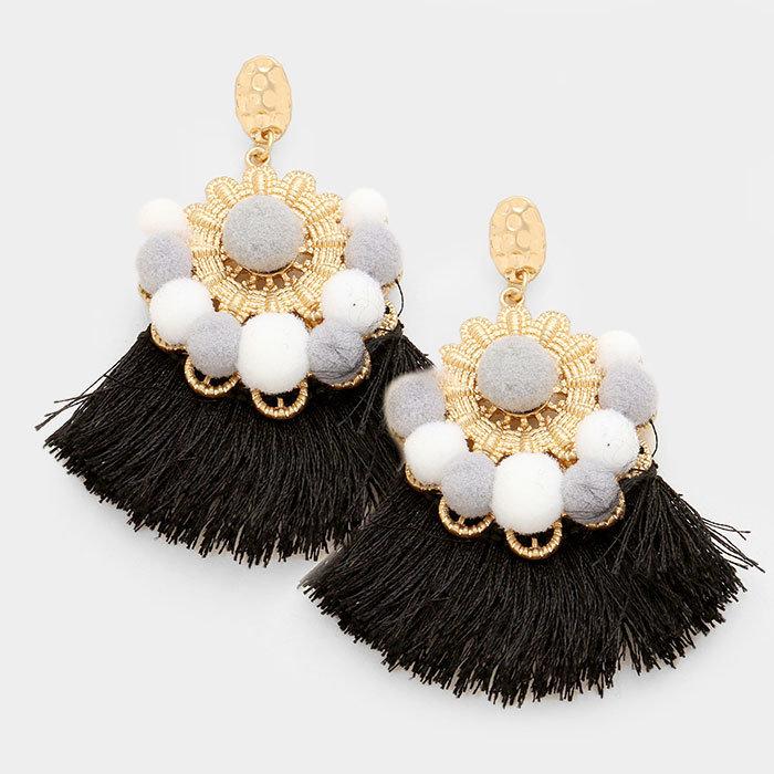 St. Bart's - Black Earrings WT-344825
