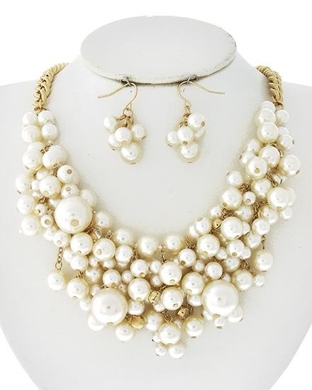 Girls Prefer Pearls Necklace BB-462718