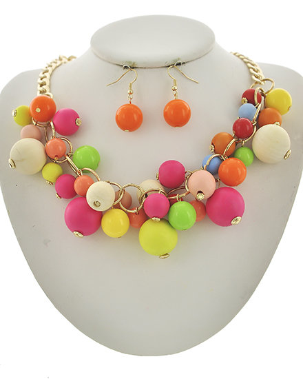 Bubble Gum Necklace - Tutti Fruity BB-543357