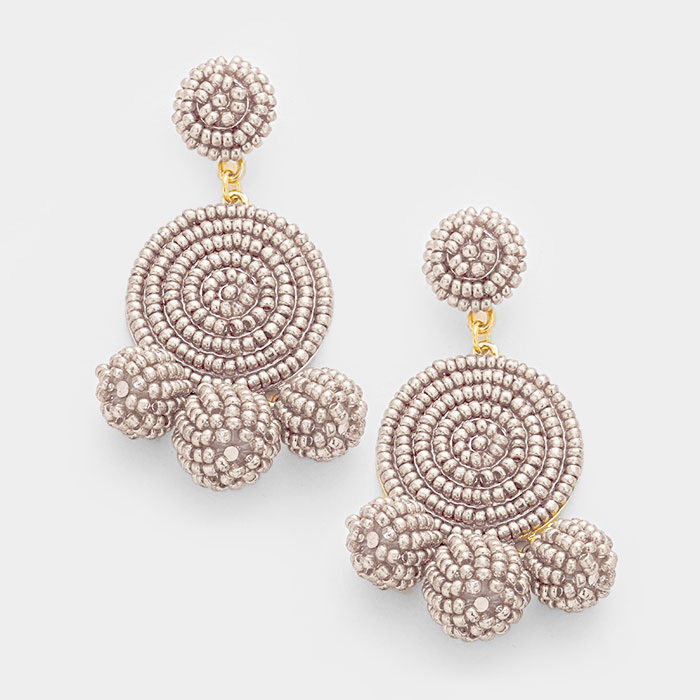 Casey Taupe Earrings WT-343375