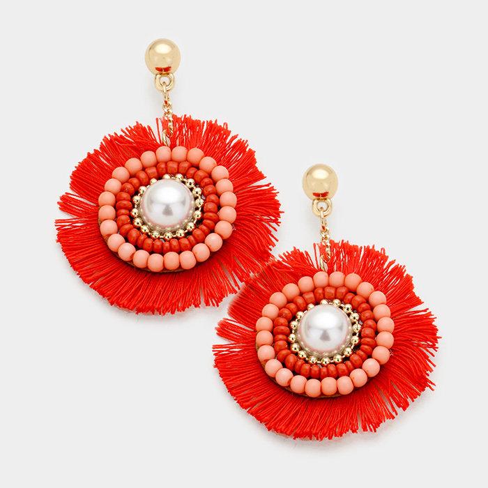 Fanfare Earrings - Grapefruit WT-346823