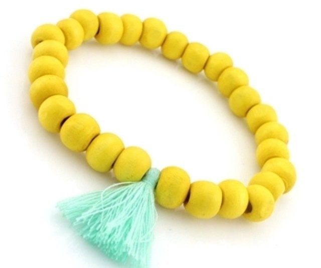 The Woodlands Beaded Bracelet - Yellow HO-2003