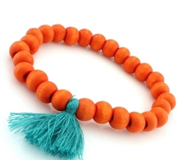 The Woodlands Beaded Bracelet - Orange HO-2005