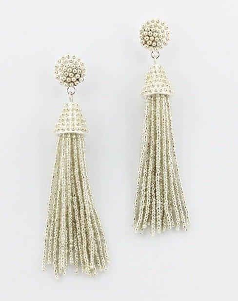 Shimmer Nights - Silver Beaded Earrings ZW-50023