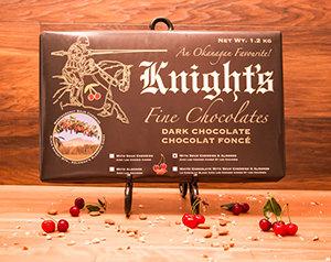 10 Knight's Chocolate 1.2 kg Dark with Cherries & Almonds