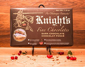 10 Knight's Chocolate 1.2 kg Dark with Cherries & Almonds