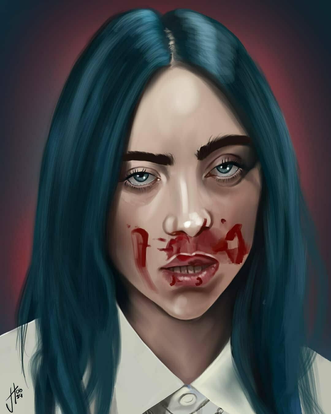 Billie Eilish Portrait Art Print