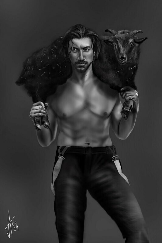Adam Driver and a Goat Art Print