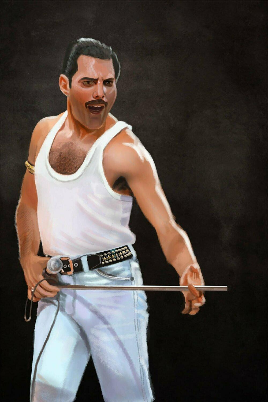 Freddie Mercury Art Print