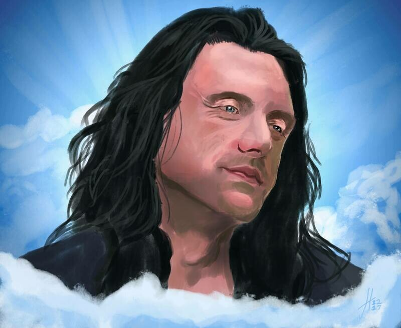 Oh, Hi Mark! Tommy Wiseau art print