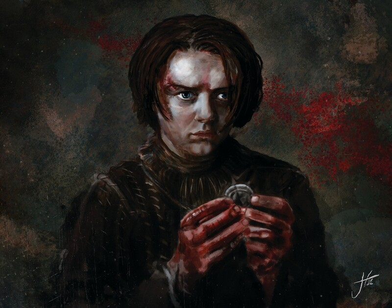 Arya Stark Game of Thrones Art Print