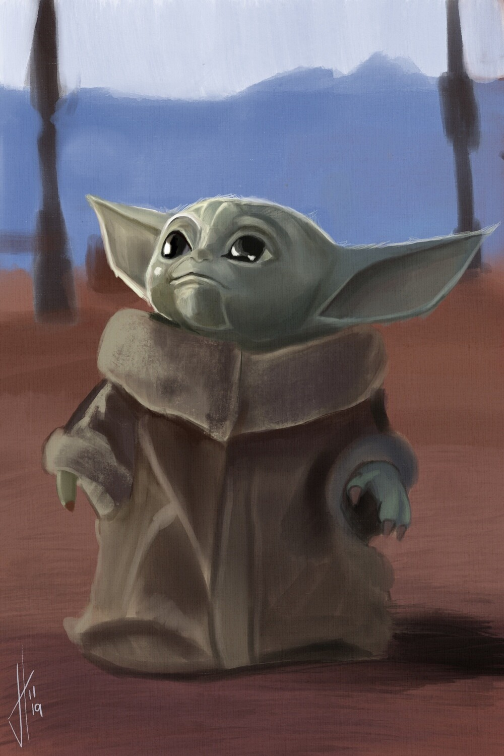 Baby Yoda The Child Mandalorian Art Print