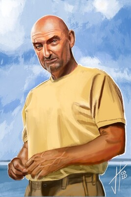 Lost John Locke Terry O'Quinn Art Print