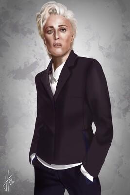 Gillian Anderson Art Print