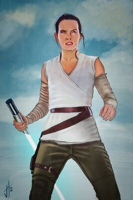 Star Wars Rey Daisy Ridley Art Print
