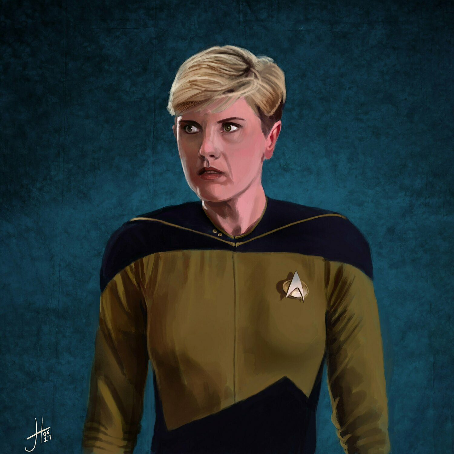 Star Trek Tasha Yar Denise Crosby Art Print