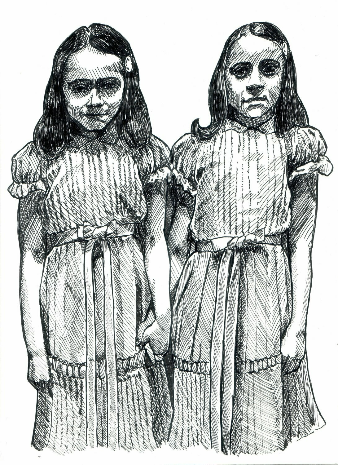 The Shining Grady Twins Drawing Print