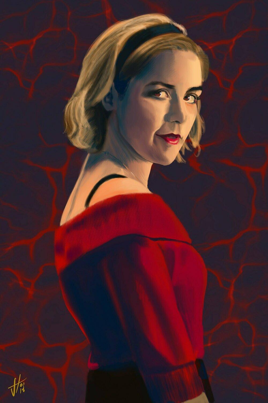 Chilling Adventures of Sabrina Art Print Kiernan Shipka Portrait