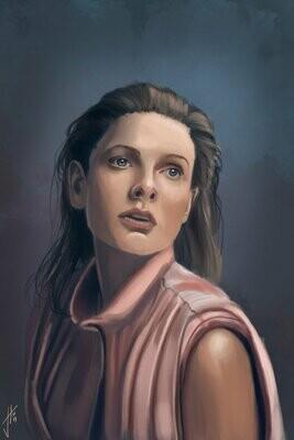 Rebecca Ferguson Portrait Art Print