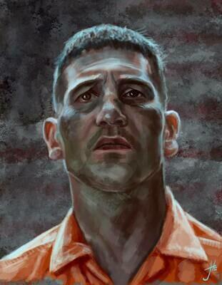 Frank Castle The Punisher Art Print