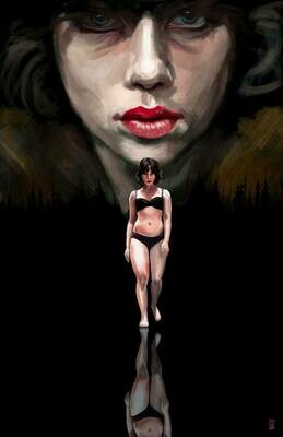 Scarlett Johansson Under the Skin Art Print