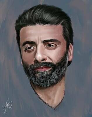 Oscar Issac Portrait Print