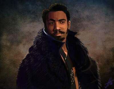 Star Wars Lando Calrissian Art Print