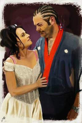 Ron and Tammy Parks and Rec Art Print