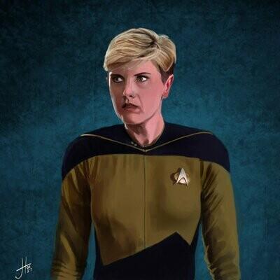 Star Trek Tasha Yar Denise Crosby Art Print