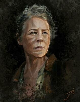 The Walking Dead Carol Art Print