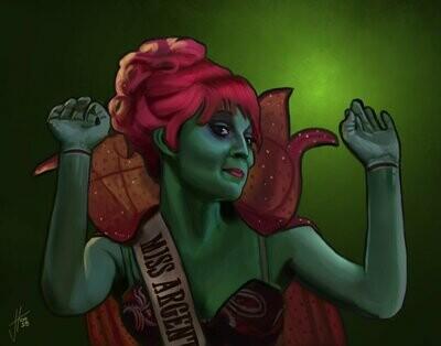 Beetlejuice Miss Argentina Art Print