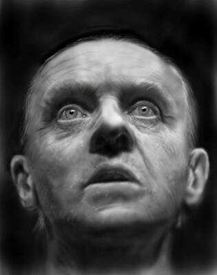 Hannibal Lecter Anthony Hopkins Art Print