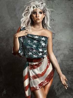 Kesha portrait art print