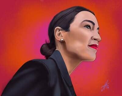 Alexandria Ocasio-Cortez Art Print